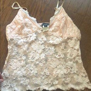 Bebe sz large blush colored lace cami